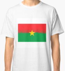 National Burkina Faso Grunge Flag Isolated on White Background Classic T-Shirt