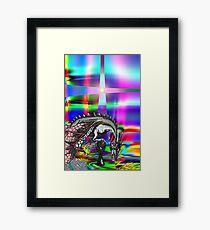 dragon glimpsed Framed Print