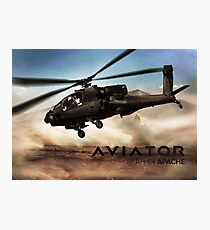 AH-64 Apache Helicopter Photographic Print