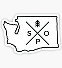 Spo, WA Sticker Sticker