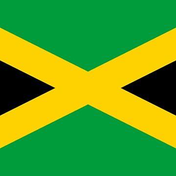 JAMAICA, JAMAICAN, Flag of Jamaica, FULL COVER, Jamaican Flag, Caribbean, Island, Pure & Simple by TOMSREDBUBBLE