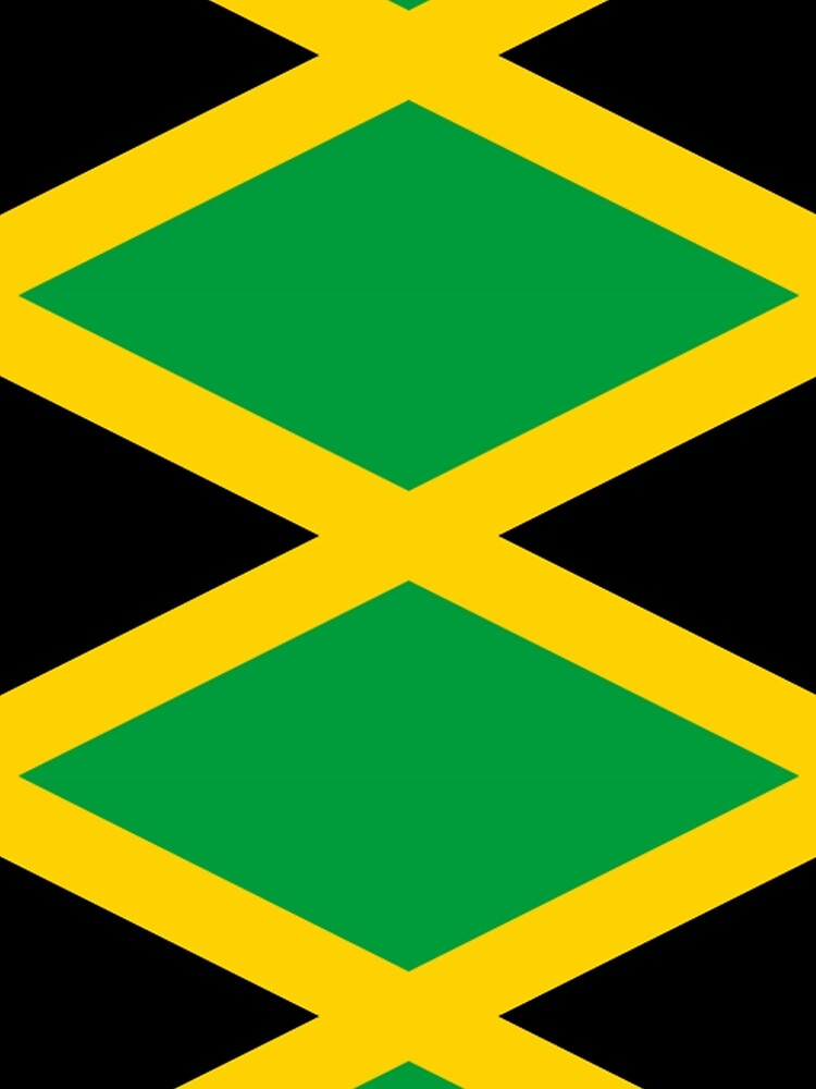 JAMAICA, JAMAICAN, Flag of Jamaica, FULL COVER, Jamaican Flag, Caribbean, Island, Pure & Simple by TOMSREDBUBBLE