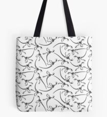 Raptor Skeleton Pattern - Black/White Tote Bag