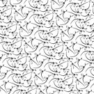 Raptor Skeleton Pattern - Black/White by Lindsey Butler