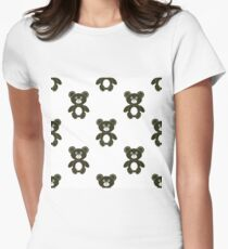 Cute Bear Isolated Seamless Pattern. Toy Background T-Shirt