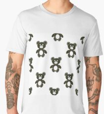 Cute Bear Isolated Seamless Pattern. Toy Background Men's Premium T-Shirt