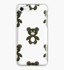 Cute Bear Isolated Seamless Pattern. Toy Background iPhone Case/Skin