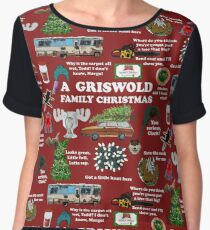 Christmas Vacation Collage Chiffon Top