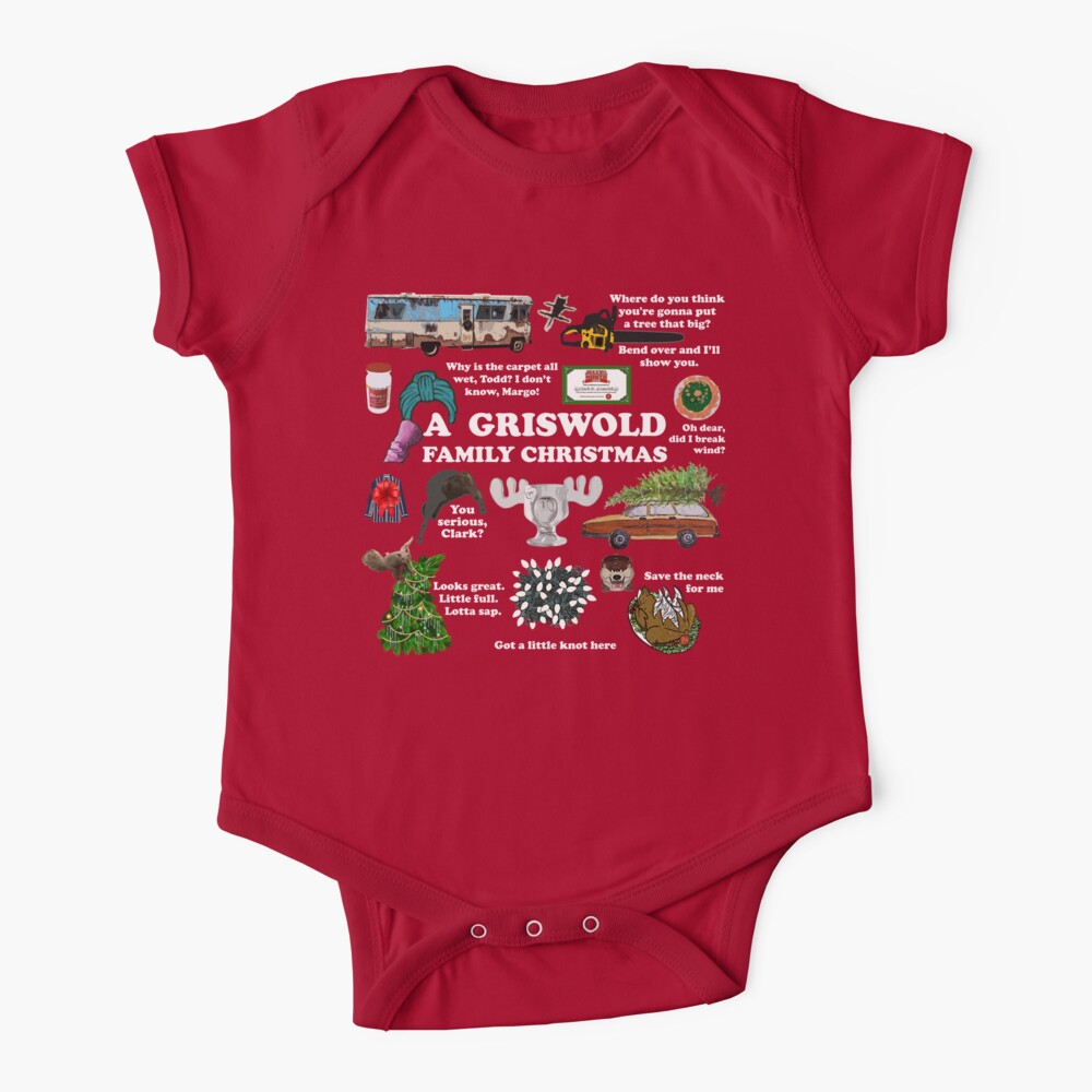 Christmas Vacation Collage Baby One-Piece