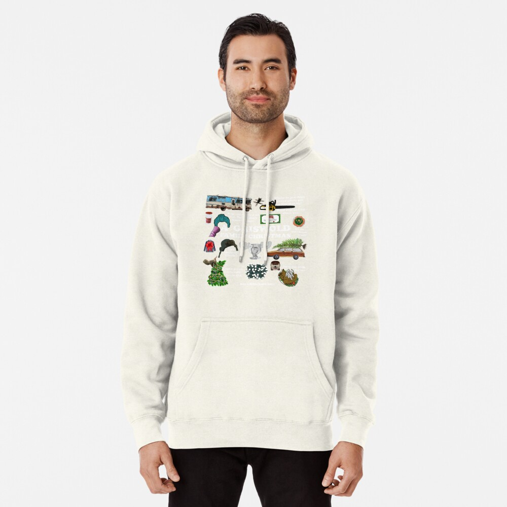 Christmas Vacation Collage Pullover Hoodie