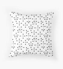 Midcentury Modern Dots 100 Throw Pillow