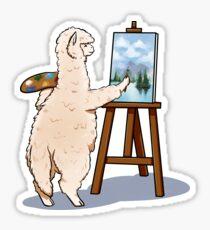 Artsy Alpaca Sticker