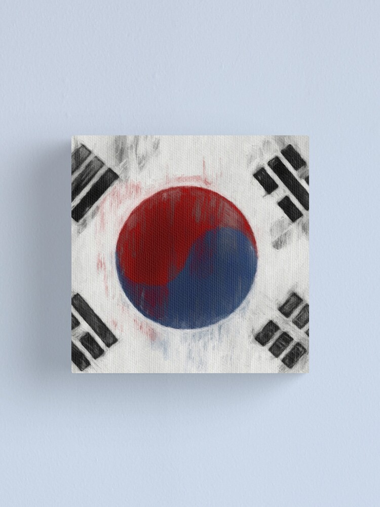 Alternate view of South Korean Flag No. 1, Series 2 Canvas Print