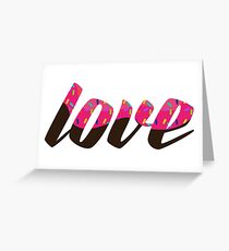 Love, Glazed Typographic Greeting Card