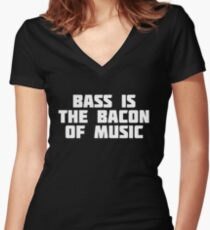 Trumpets Are The Bacon Of Music | Funny Musical T-Shirt Women's Fitted V-Neck T-Shirt