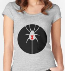 Spider Red Black White  Women's Fitted Scoop T-Shirt