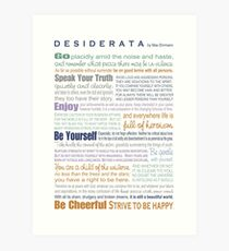 Desiderata - Multi-color Art Print