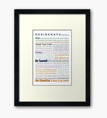 Desiderata - Multi-color Framed Print
