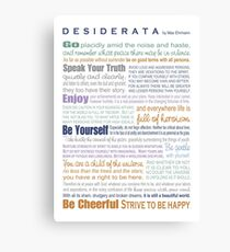 Desiderata - Multi-color Canvas Print