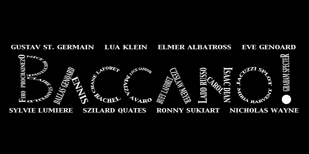 Baccano! Typography! by ReversePolarity