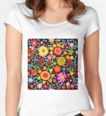Colorful autumn carpet. Women's Fitted Scoop T-Shirt