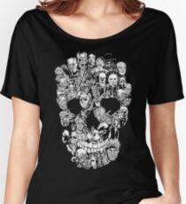Halloween Skull Horror T-shirt Women's Relaxed Fit T-Shirt