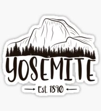 Yosemite National Park California - El Capitan Half Dome 1890 Sticker