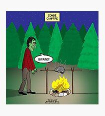 Zombie Campfire Photographic Print