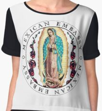 Mexican Embassy (Our Lady of Guadalupe) Women's Chiffon Top