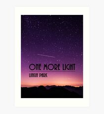 One More Light design Art Print