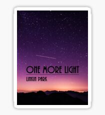 One More Light design Sticker