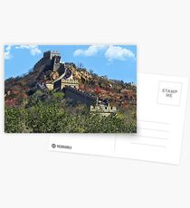 万里长城 GREAT WALL OF CHINA 万里长城  VARIOUS APPAREL Postcards