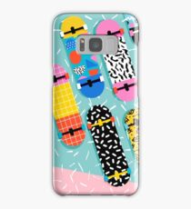 Omigod - 80s retro memphis skateboards pattern sports trendy 1980's vintage style retro Samsung Galaxy Case/Skin