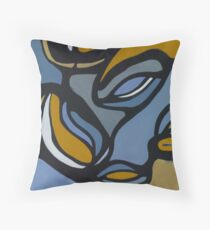 Pulling Mussels from a Shell Panel 2 Throw Pillow