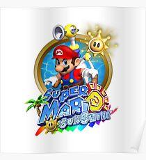 Super Mario Sunshine New Logo Poster