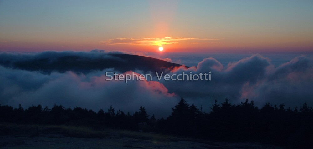 Cadillac Mountain Sunset by Stephen Vecchiotti