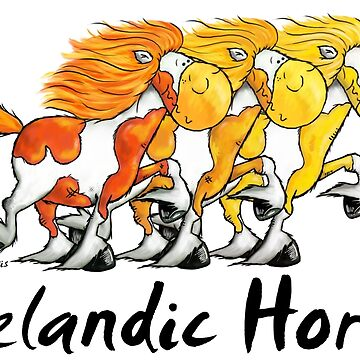 Threw Icelandic Horses - Horse - Comic - Gift by modartis