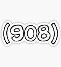 908 Aufkleber Sticker