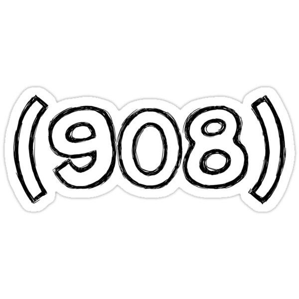 908 sticker Sticker