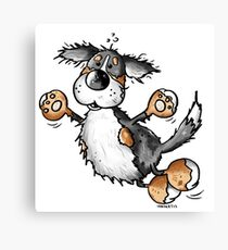 Happy Bernese Mountain Dog - Dogs - Cartoon - Gift - Funny Canvas Print
