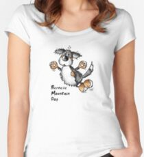 Fluffy Bernese Mountain Dog - Dogs - Funny - Pet - Gift Women's Fitted Scoop T-Shirt