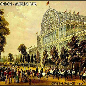 LONDON: 1851 Weltausstellung im Crystal Palace von posterbobs