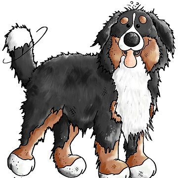 Happy Bernese Mountain Dog - Comic - Dogs - Cartoon - Gift - Funny by modartis