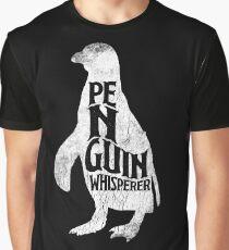 Penguin Whisperer Funny Design Love Antarctica Graphic T-Shirt