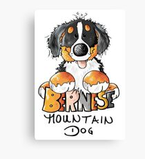 Cute Bernese Mountain Dog Puppy - Dogs - Comic - Gift Canvas Print