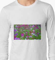 Digital Art with fine brush strokes, Dianthus chinensis  T-Shirt