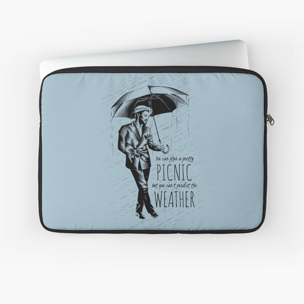 Andre in the Rain Laptop Sleeve