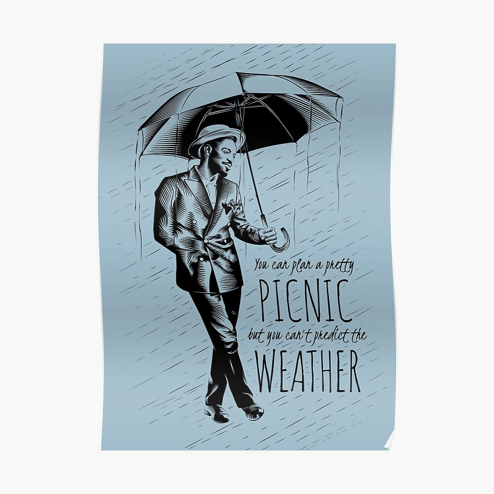 Andre in the Rain Poster