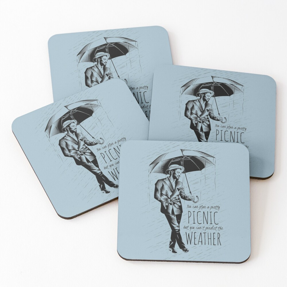 Andre in the Rain Coasters (Set of 4)