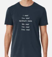 Reading conjugation (white) Premium T-Shirt